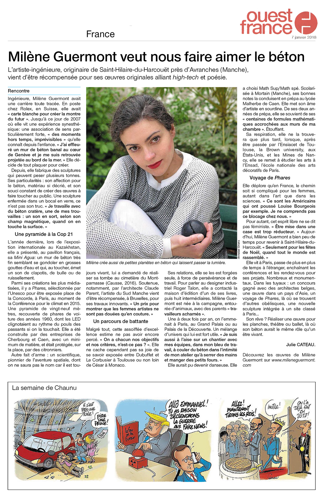 Portrait dans le quotidien le plus lu en France & stylish
